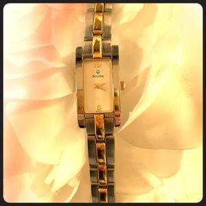 Vintage Bulova Two Toned Bracelet Watch